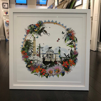Kristjana S Williams - 'London Hringlaga - West' (Framed)