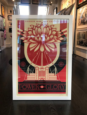 Shepard Fairey (OBEY) - 'Green Power' (Framed)