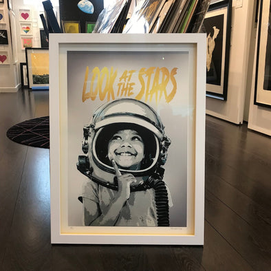 Alessio B - 'Look At The Stars' - Silver (Framed)