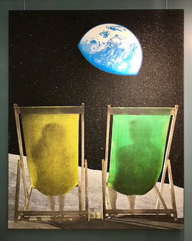 Joe Webb - 'Wish You Were Here' Original Canvas