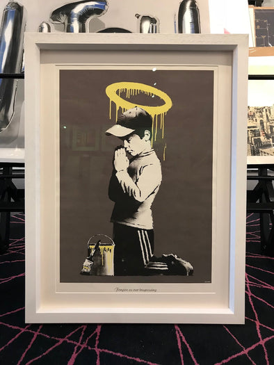 Banksy - 'Forgive Us Our Trespassing' (Framed) SOLD