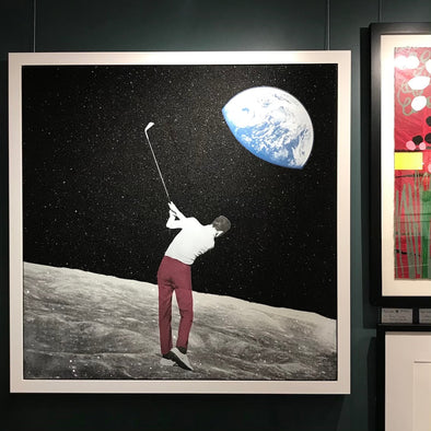 Joe Webb - 'Long Shot' Original Canvas (Framed)