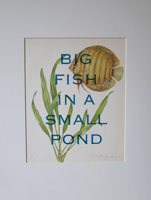 1498: Lene Bladbjerg - 'Big Fish In A Small Pond' (Framed)