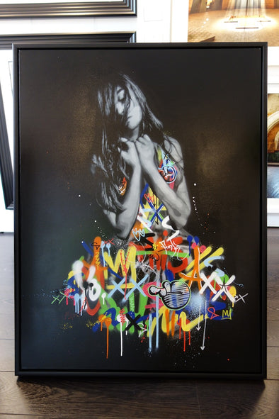 1796: Martin Whatson / Snik - 'Souls Apart Collaboration Canvas' (Framed) SOLD
