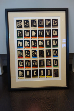 67 Inc - 'Chemical Elements A to Z' (Framed)