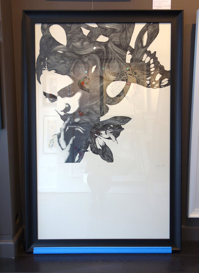 1996: Gabriel Moreno - 'Flower' (Framed) SOLD