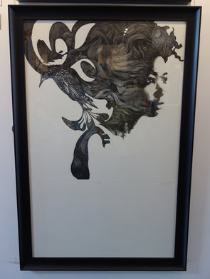1995: Gabriel Moreno - 'Butterfly' (Framed) SOLD