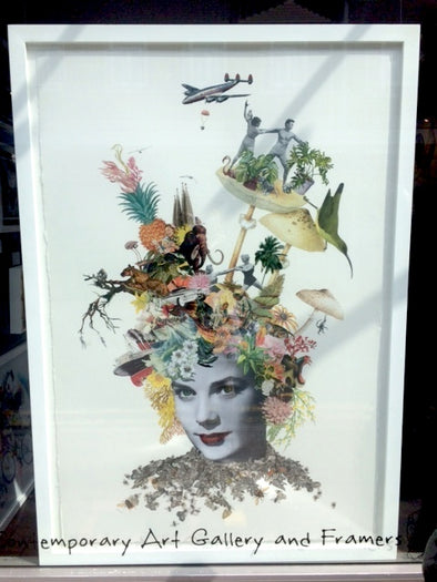 2087: Maria Rivans - 'Princess Fremont' (Original Collage) (Framed) SOLD