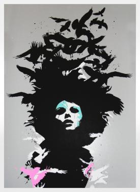 2270: Eelus - 'Raven Haired' (Unframed) SOLD