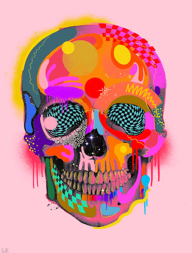 Victoria Topping - 'Spectrum Skull' (Pink)