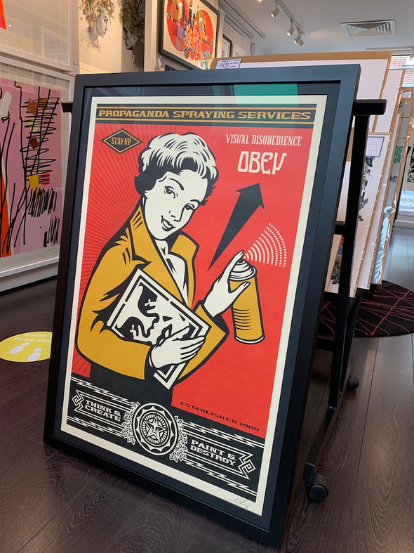 OBEY Shepard Fairey - 'Stay Up Girl'