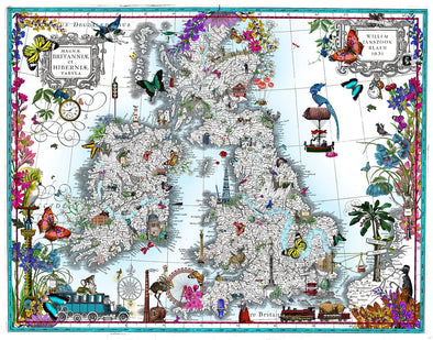 Kristjana S Williams - 'Taera Bretland - Blaeu British Isles'