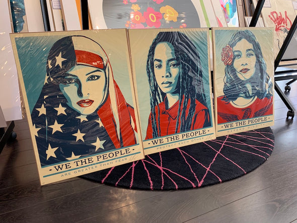 Shepard Fairey (Obey) - 'We The People' Set of 3 Artist's Proofs
