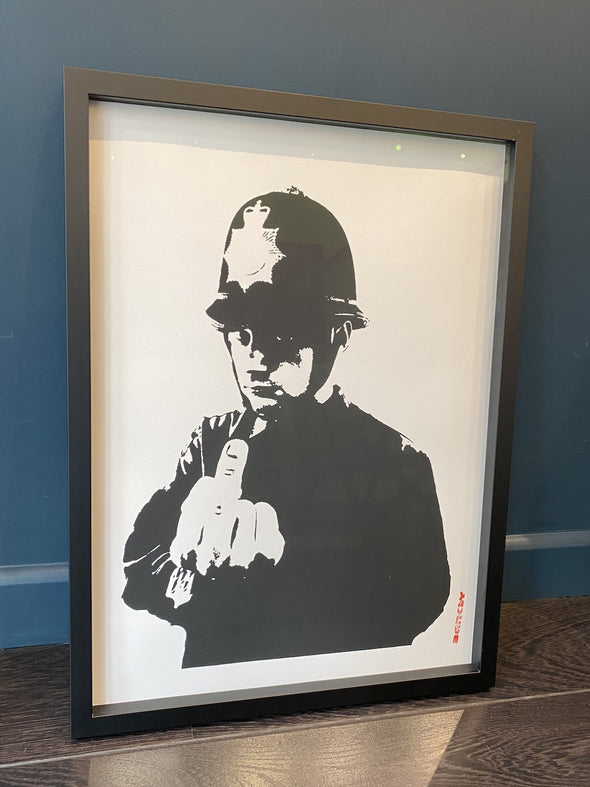 West Country Prince - 'Rude Copper' Banksy Replica