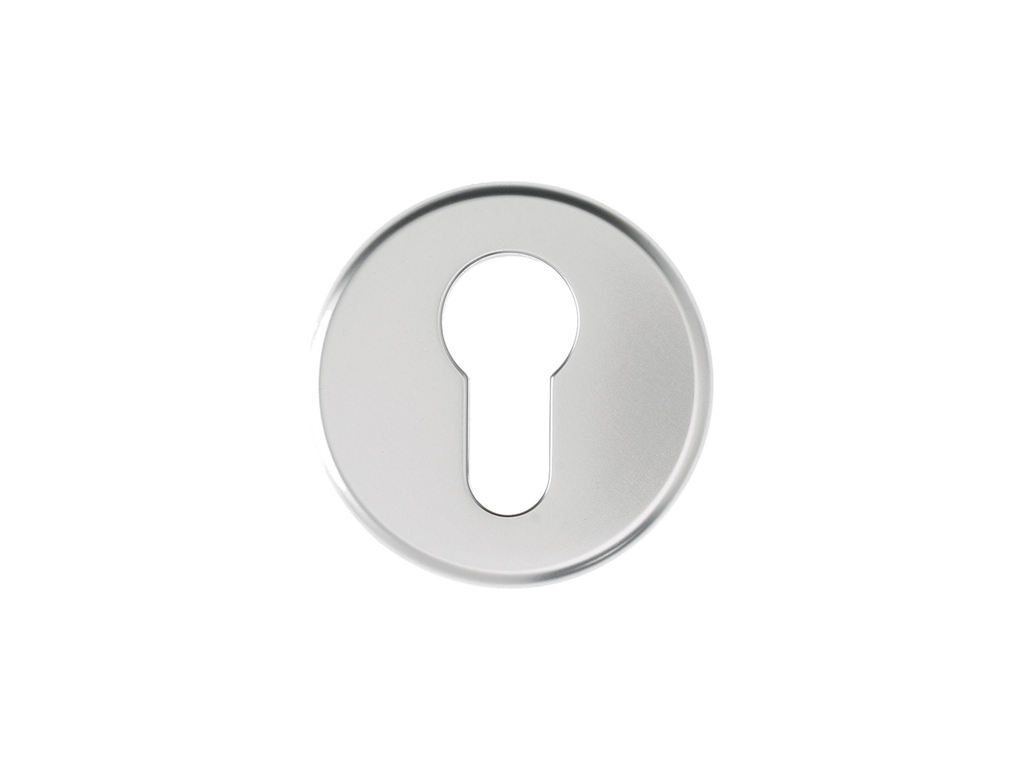 ADS AS4540 Euro Profile Round Escutcheon - AluminiumDoorSupplies