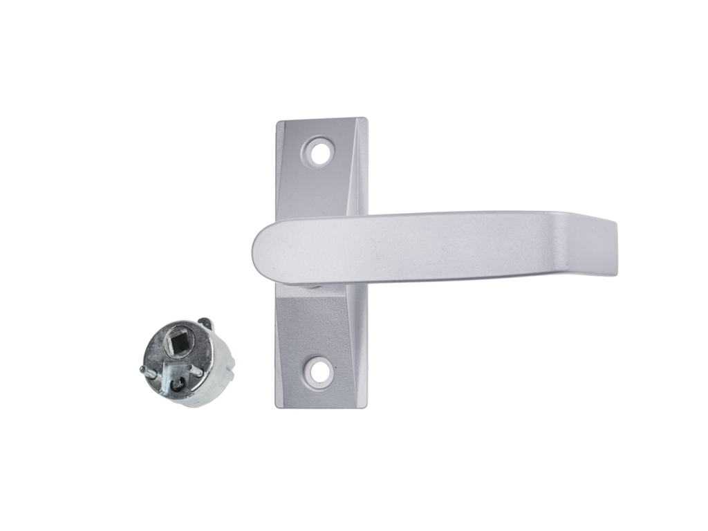 ADS 2100-61 Lever Handle Complete With Cam Plug - AluminiumDoorSupplies