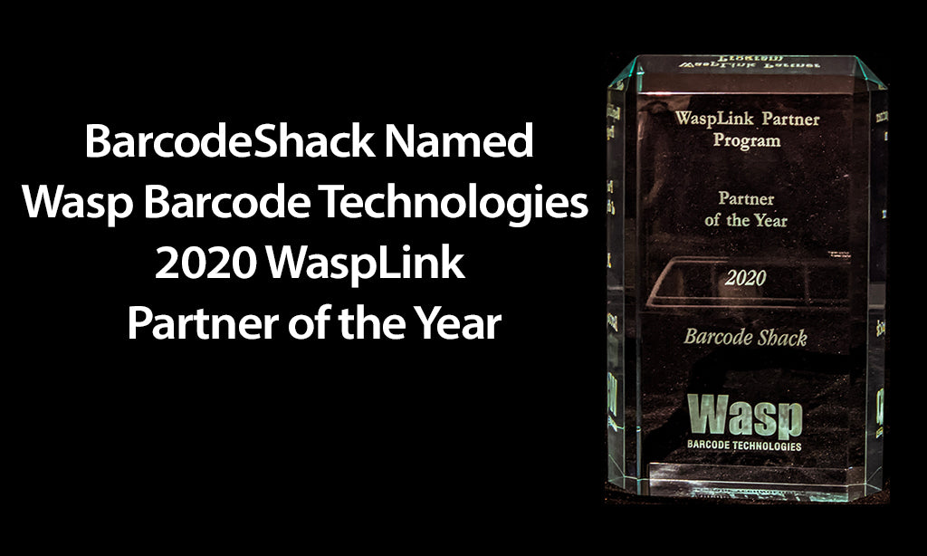 Wasp Barcode Technologies Awards BarcodeShack as 2020 WaspLink Partner of the Year