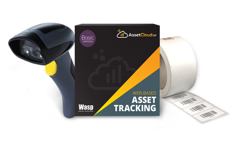 Wasp AssetCloudOP Basic - (1 login users) w/WWS650 scanner and Asset Tags - 633809006326