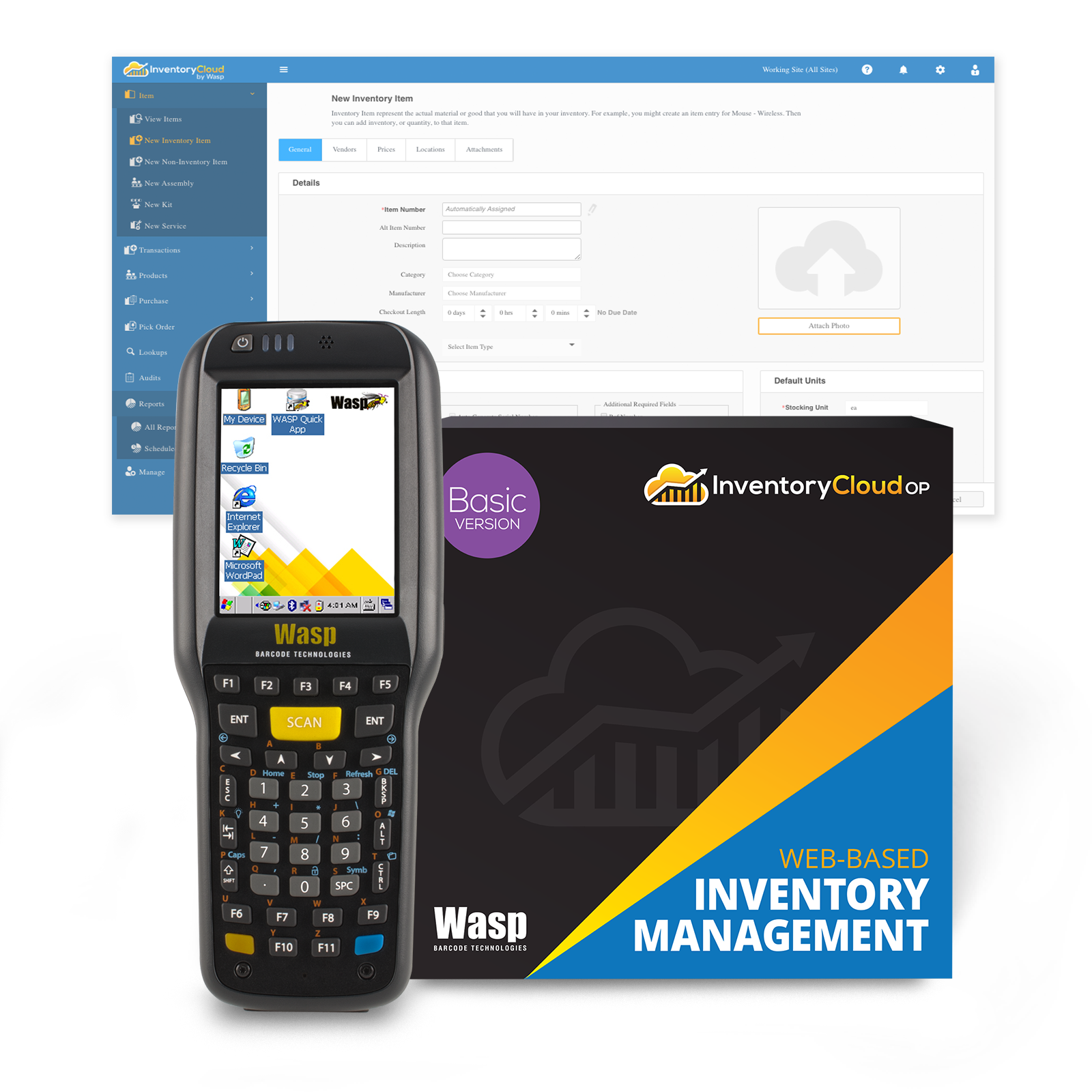 Wasp InventoryCloudOP Basic – (1 login user) user w/DT90 - 633809006524
