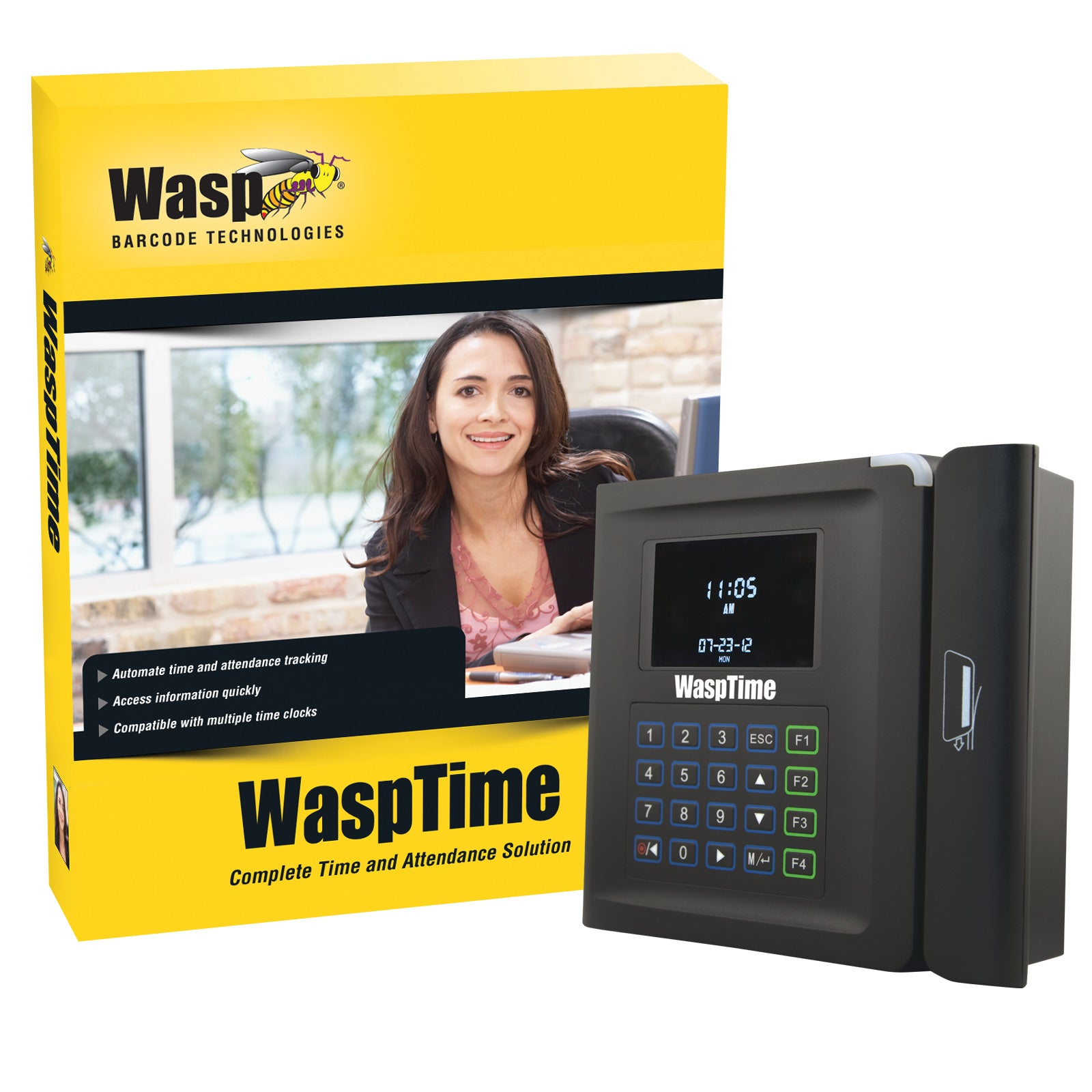 WaspTime v7 Professional with Barcode Time Clock - 633808550561