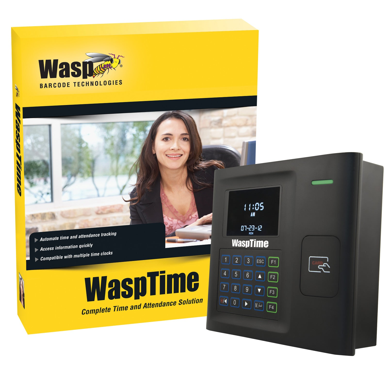 WaspTime v7 Standard with HID Time Clock - 633808551377