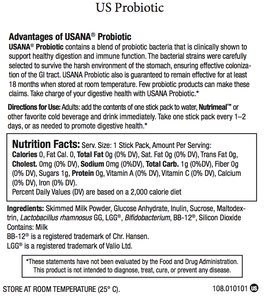 FREE USANA® Probiotic 3 Day Sample (Limit 1)