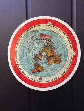 Gleason Map 4'' x 4'' Circle Sticker - Vinyl - High Gloss