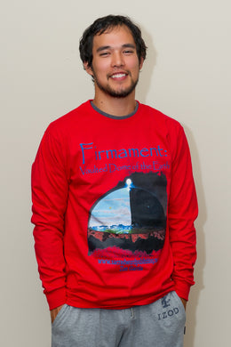 Firmament T-Shirt, Long Sleeves, Red
