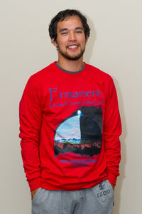 Firmament T-Shirt, Long Sleeves, Red - sacred-word-publishing-2