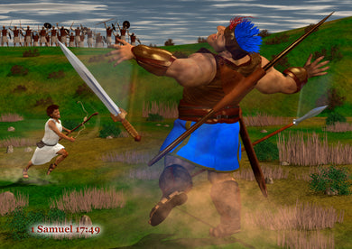 CanonQuest Series 2 Wall Art – David and Goliath - sacred-word-publishing-2