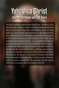 Yahushua Christ: Infancy Childhood And Lost Years
