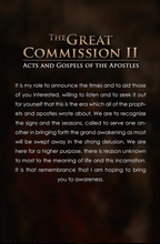 The Great Commission II: The Acts and Gospels of the Apostles Ebook