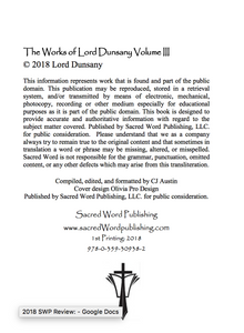 The Works of Lord Dunsany Volume III Ebook - sacred-word-publishing-2