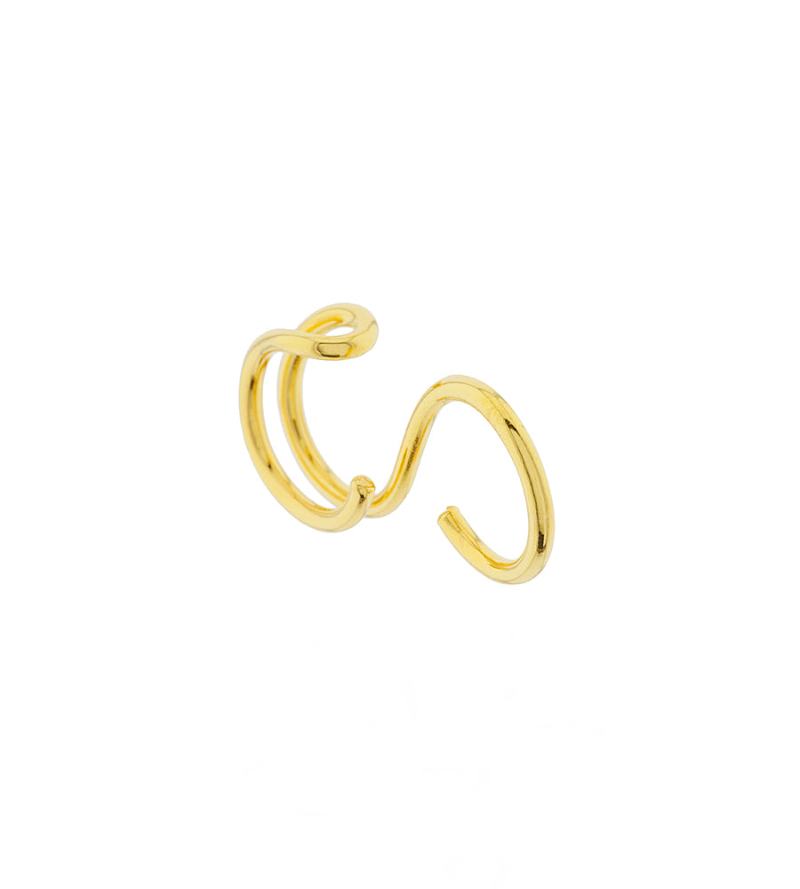 Double circle ring gold