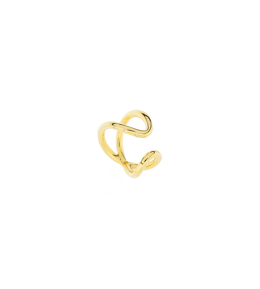 Bimodal ring diamonds gold