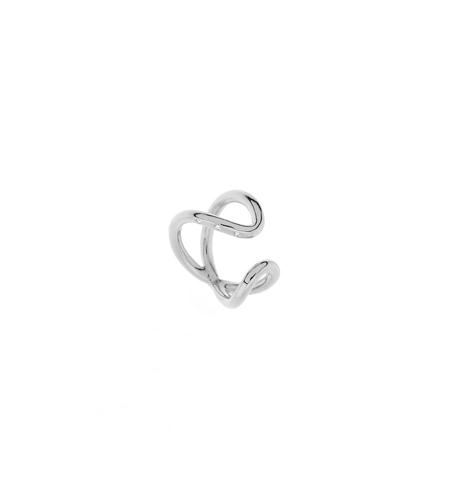 Bimodal ring diamonds silver