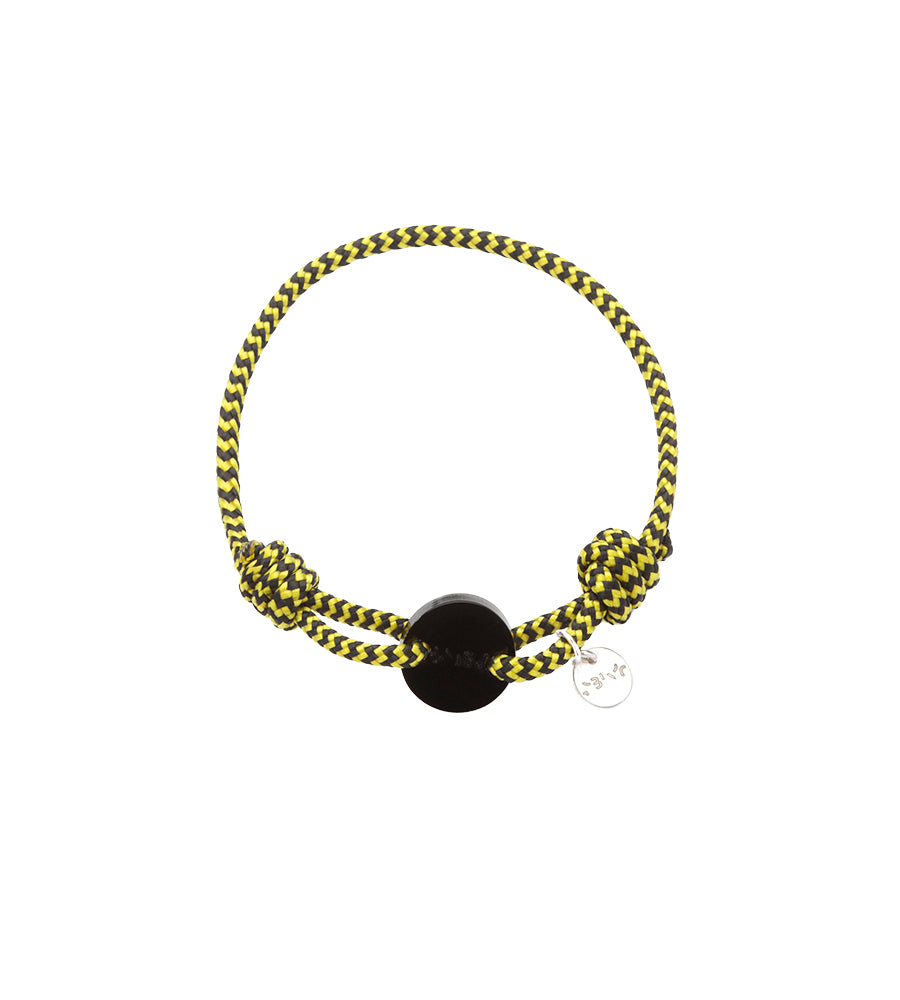 Bracelet Acrylic Yellow & Black