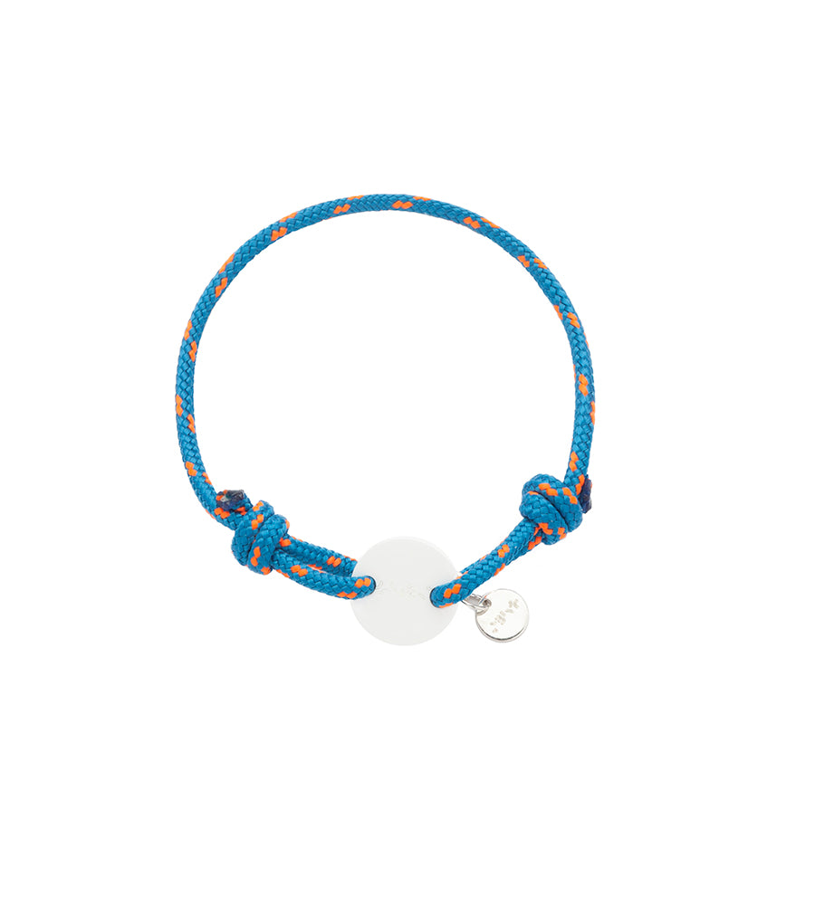 Bracelet Acrylic Orange & liht blue