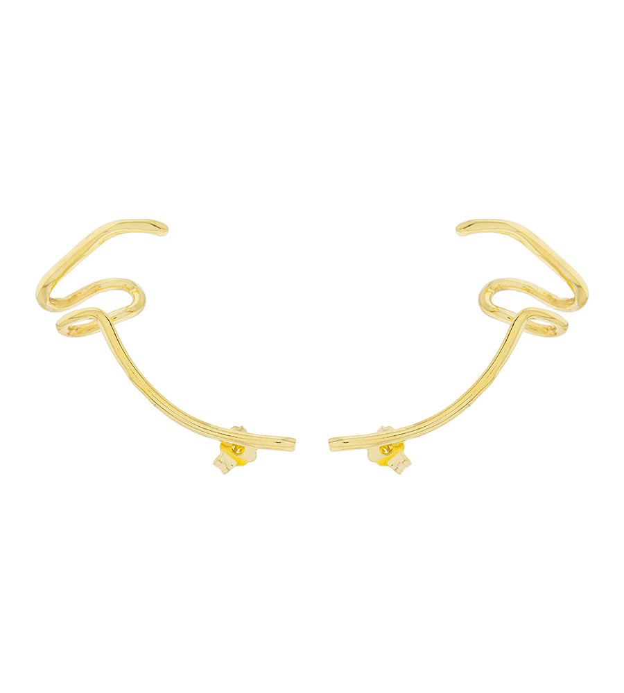 Polar earring gold