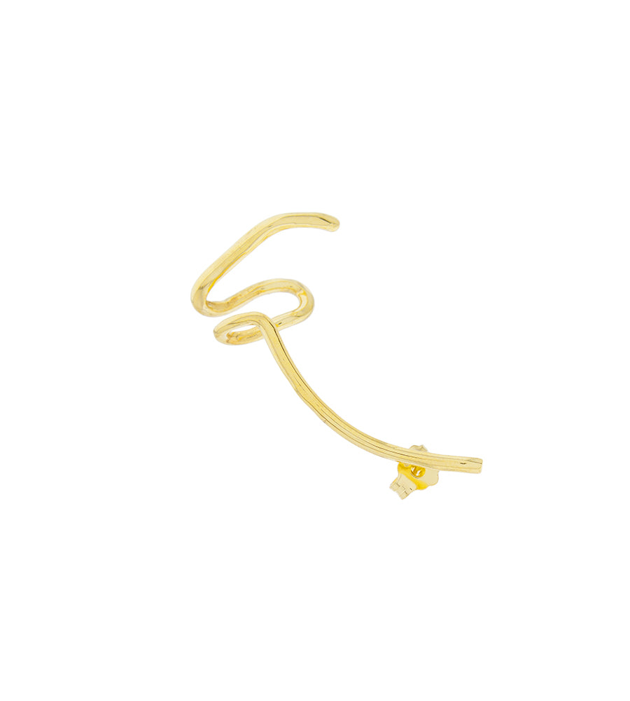 Polar earring gold_1 unit