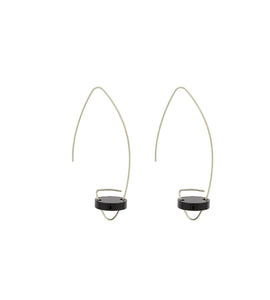 Acrylic silver earring flat circule simple