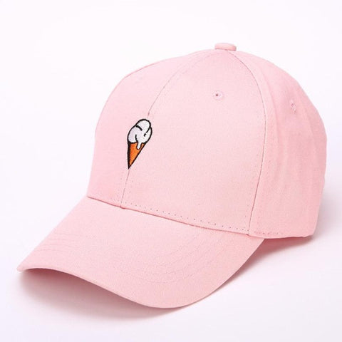 Ice Cream Embroidery Cap