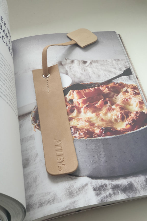 Leather Book Mark - Natural