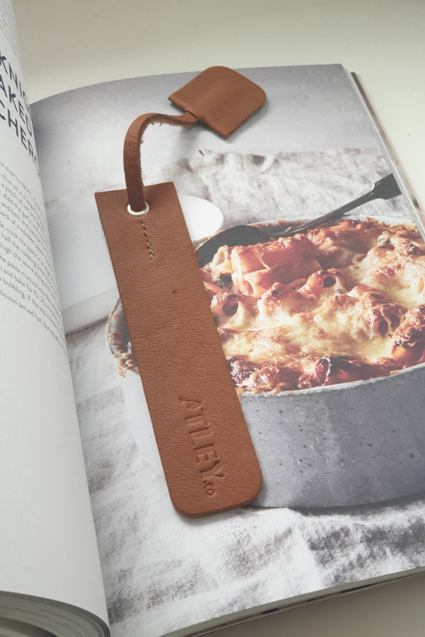 Leather Book Mark - Tan
