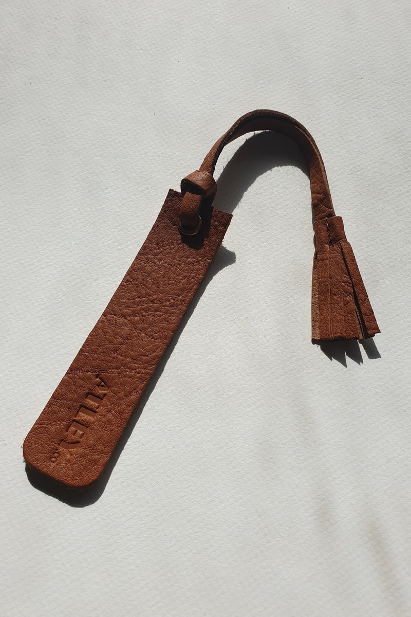 Leather Book Mark - Tassel
