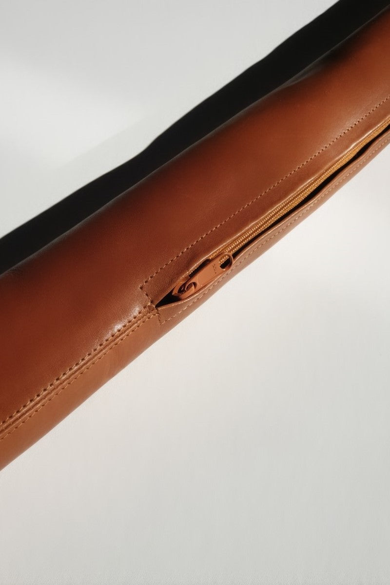 Leather Draft Stopper - Tan