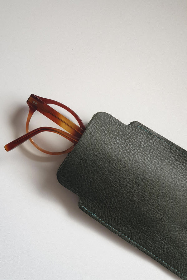 Leather Case - Olive - Eyewear & Accessories