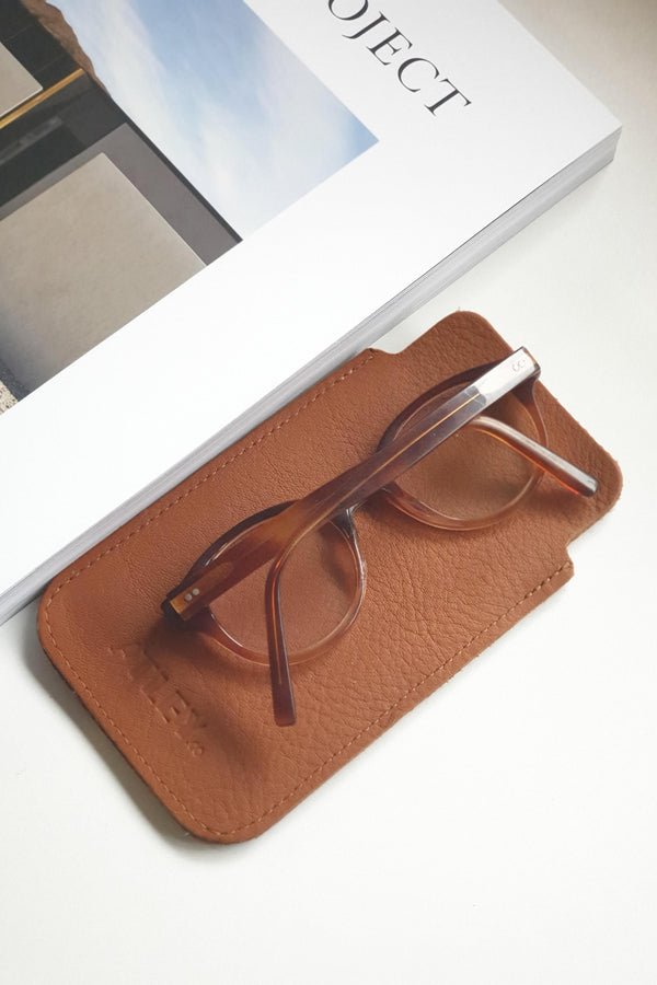 Leather Case - Tan - Eyewear & Accessories