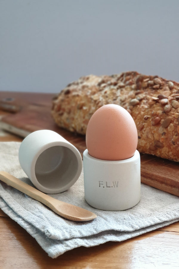 Ceramic Egg Cup Holder - Set of 2 - Option to Personalise