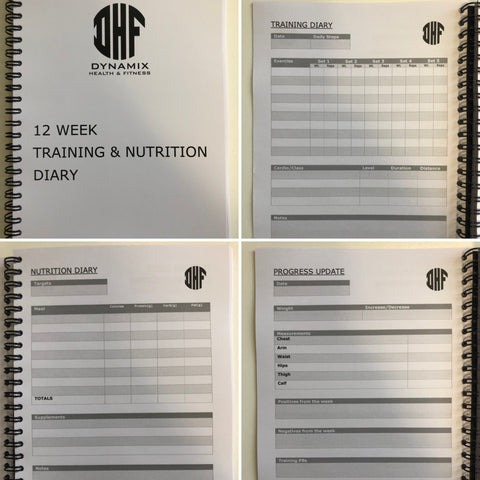 training and nutrition diary dynamix health and fitness
